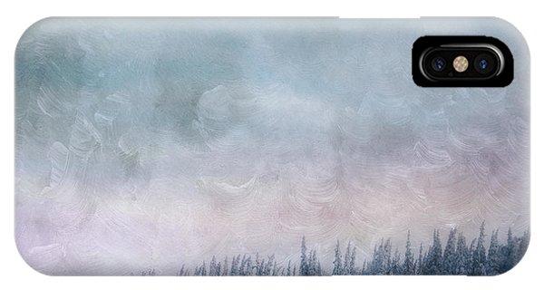 Treeline iPhone Case - Pastel Skies by Priska Wettstein