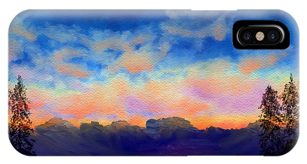 Pastel Sky Phone Case by Kerry Mitchell