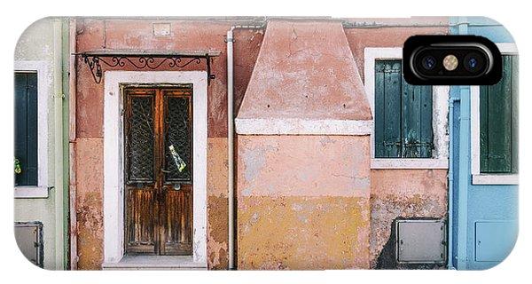 Facade iPhone Case - Pastel Street by Luc Vangindertael (lagrange)