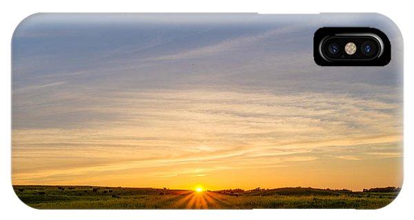 Pasture At Sunset IPhone Case