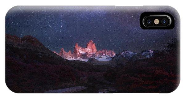 Patagonia Autumn Night IPhone Case