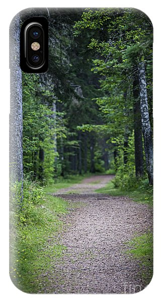 Hiking Path iPhone Case - Path In Dark Forest by Elena Elisseeva