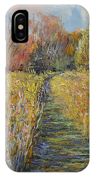 Wiese iPhone Case - Path In The Meadow by Michael Creese
