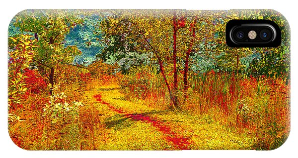 Path Through The Woods IPhone Case