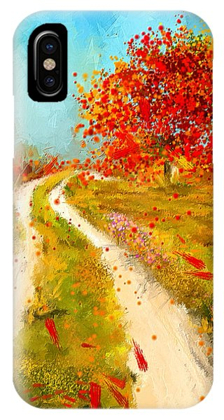 Path To Change- Autumn Impressionist Painting IPhone Case