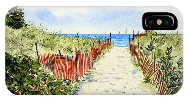 Path To East Beach-watch Hill Ri IPhone Case