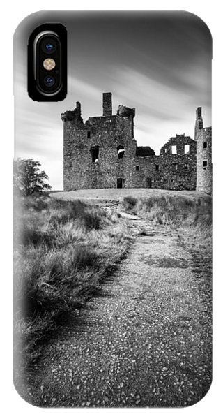 Castle iPhone Case - Path To Kilchurn Castle by Dave Bowman