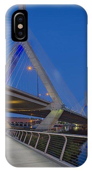 Zakim Bridge iPhone Case - Path To The Leonard P. Zakim Bridge by Susan Candelario