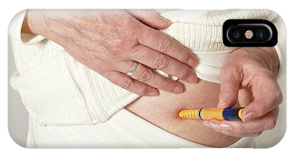 Patient Using An Autoinjector IPhone Case