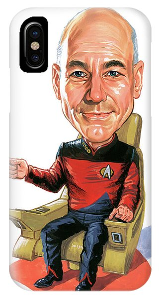 Superior iPhone Case - Patrick Stewart As Jean-luc Picard by Art