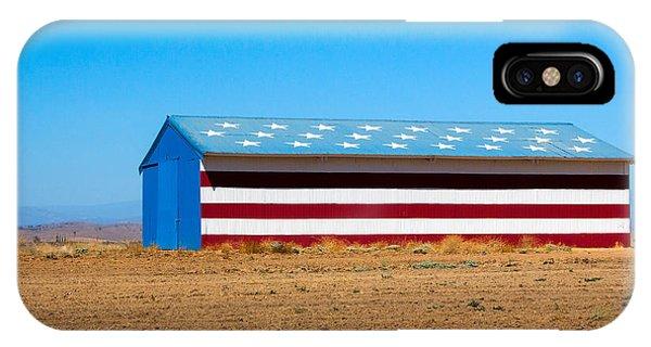 Patriotic Barn IPhone Case