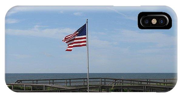 Patriotic Beach View IPhone Case