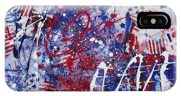 iPhone Case - Patriotic Fireworks by Julie Acquaviva Hayes