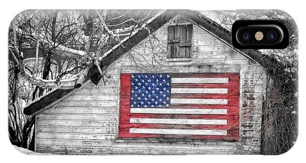 Patriotic American Shed IPhone Case