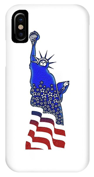 Patriotic Lady Liberty IPhone Case