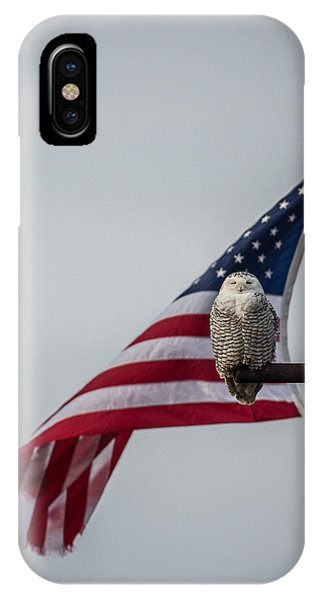 Patriotic Snow Owl IPhone Case