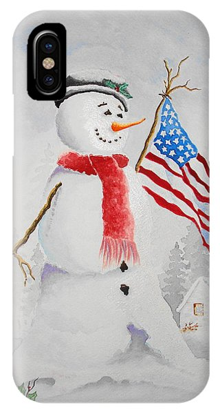 Patriotic Snowman IPhone Case