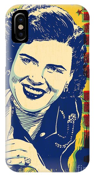 Johnny Cash iPhone Case - Patsy Cline Pop Art by Jim Zahniser