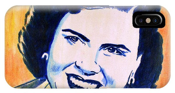IPhone Case featuring the painting Patsy Cline Pop Art Painting by Bob Baker