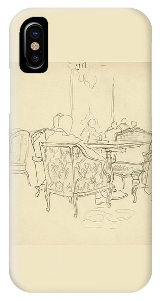 Patterned Chairs At A Restaurant IPhone Case