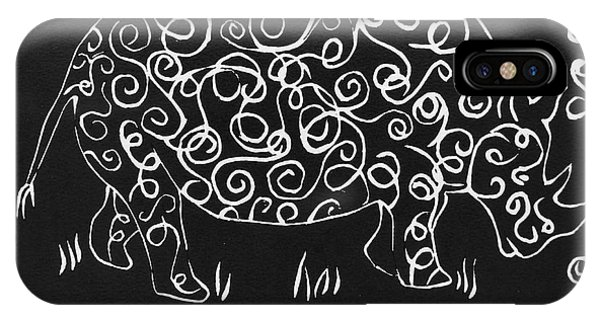 Patterned Rhino IPhone Case