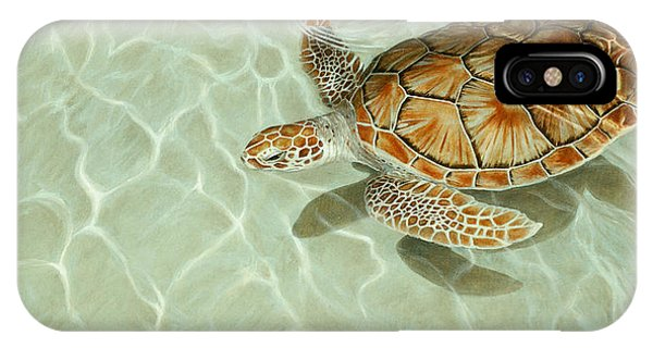 Patterns In Motion - Portrait Of A Sea Turtle IPhone Case