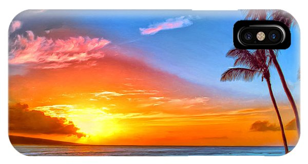 Hawaiian Sunset iPhone Case - Pau Hana Sunset Maui by Dominic Piperata