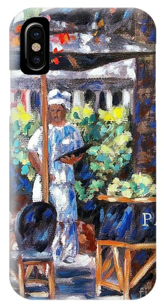 Table For Two iPhone Case - Paul Bakery by Danielle  Perry