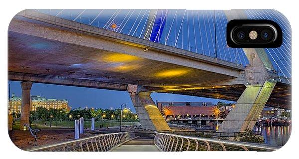 Zakim Bridge iPhone Case - Paul Revere Park And The Zakim Bridge by Susan Candelario