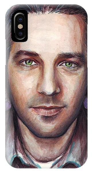 Paul Rudd Portrait IPhone Case
