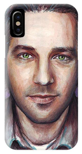 Celebrity iPhone Case - Paul Rudd Portrait by Olga Shvartsur