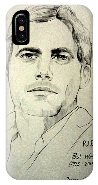 Mtv iPhone Case - Fast And Furious - Paul Walker by Tanmay Singh