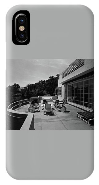 Paved Terrace At The Residence Of Mr. And Mrs IPhone Case