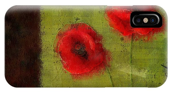 Poppies iPhone Case - Pavot - 027023173-bl01 by Variance Collections