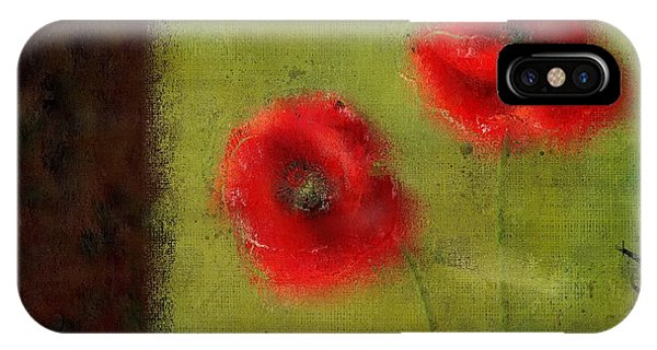 Poppies iPhone Case - Pavot - 027023222-bl02 by Variance Collections