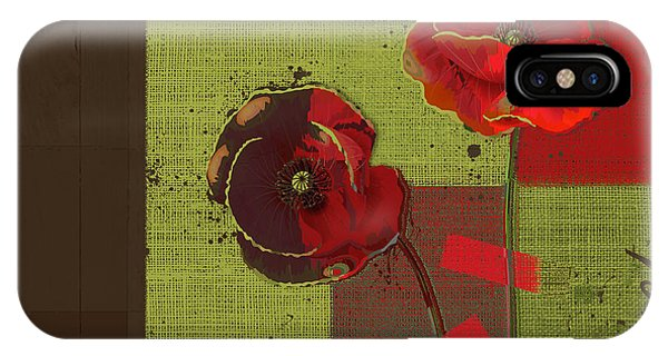 Poppies iPhone Case - Pavot - 128128146bl01b by Variance Collections