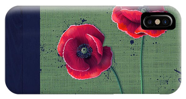 Poppies iPhone Case - Pavot - S01c08a by Variance Collections