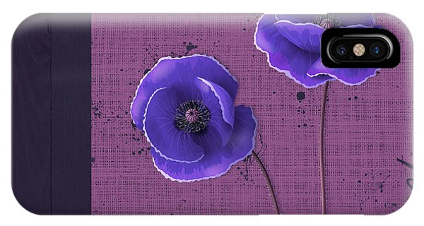 Poppies iPhone Case - Pavot - S01c09a by Variance Collections