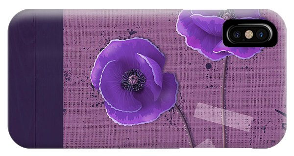 Poppies iPhone Case - Pavot - S02c09b by Variance Collections
