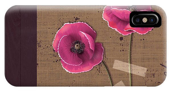 Poppies iPhone Case - Pavot - S02c11b by Variance Collections