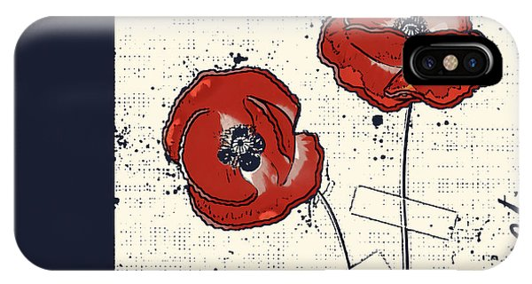 Poppies iPhone Case - Pavot - S05-01a by Variance Collections