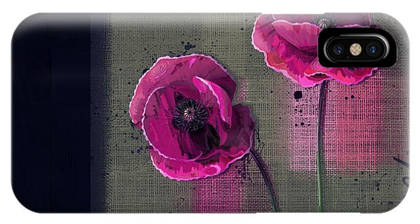 Poppies iPhone Case - Pavot - S1c12j033036161bl1 by Variance Collections