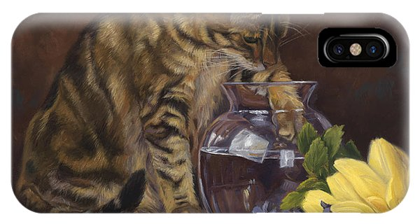 Paw In The Vase IPhone Case