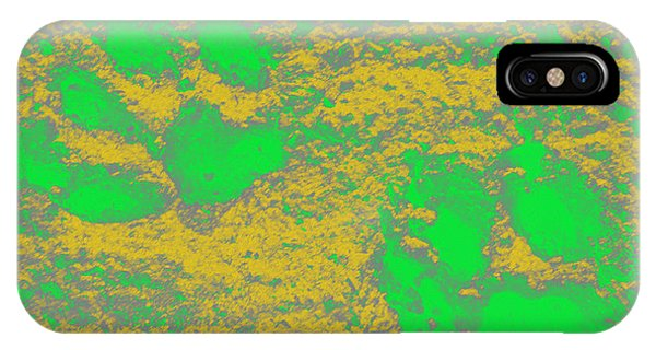 Paw Prints In Yellow And Lime IPhone Case
