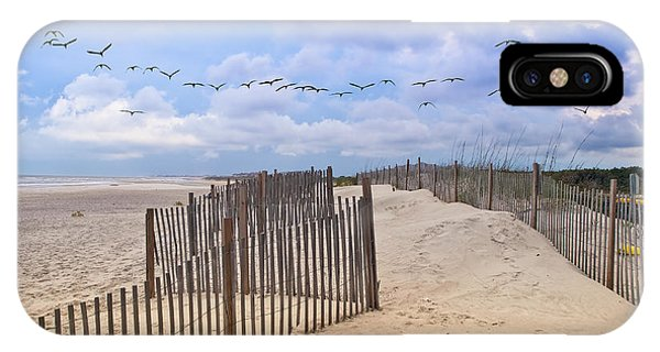 Pawleys Island Beach Scene IPhone Case