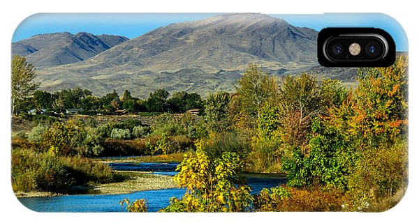Payette River And Squaw Butte IPhone Case