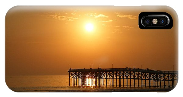 Pb Sunset Over The Pier IPhone Case