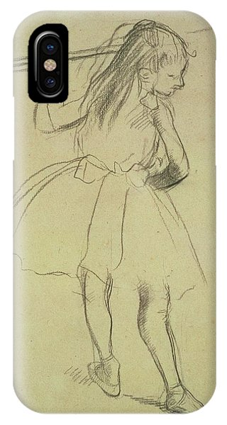 Pastel Pencil iPhone Case - Girl Dancer At The Barre by Edgar Degas