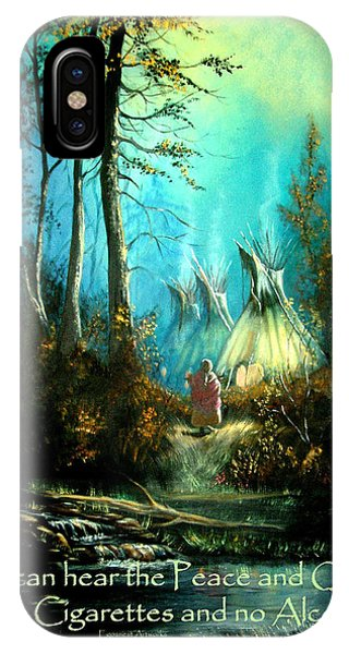 Peace And Quiet Drug Free Tepee IPhone Case