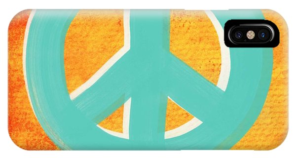 Aqua iPhone Case - Peace by Linda Woods